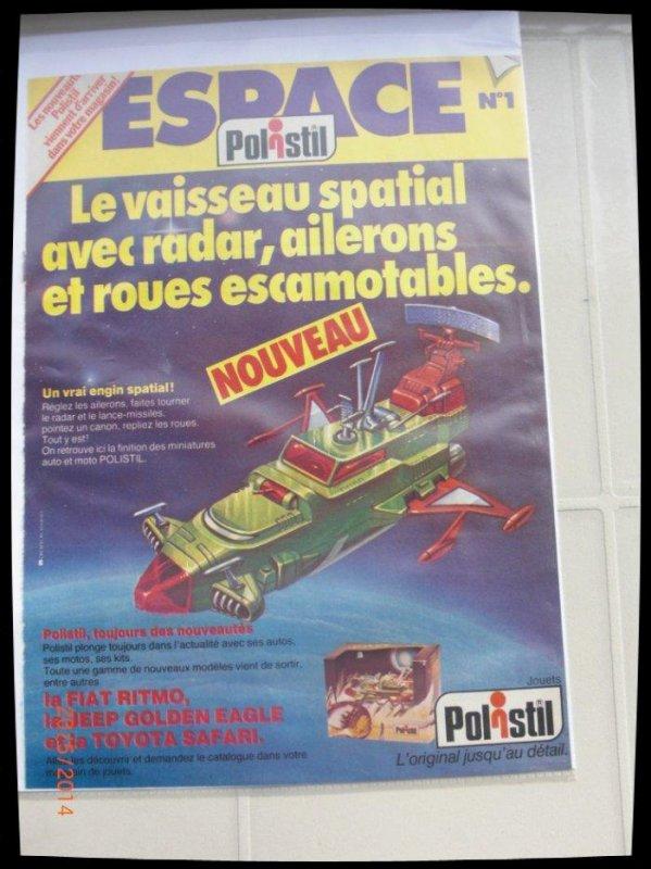 Publicité pour les vaisseaux d'Albator