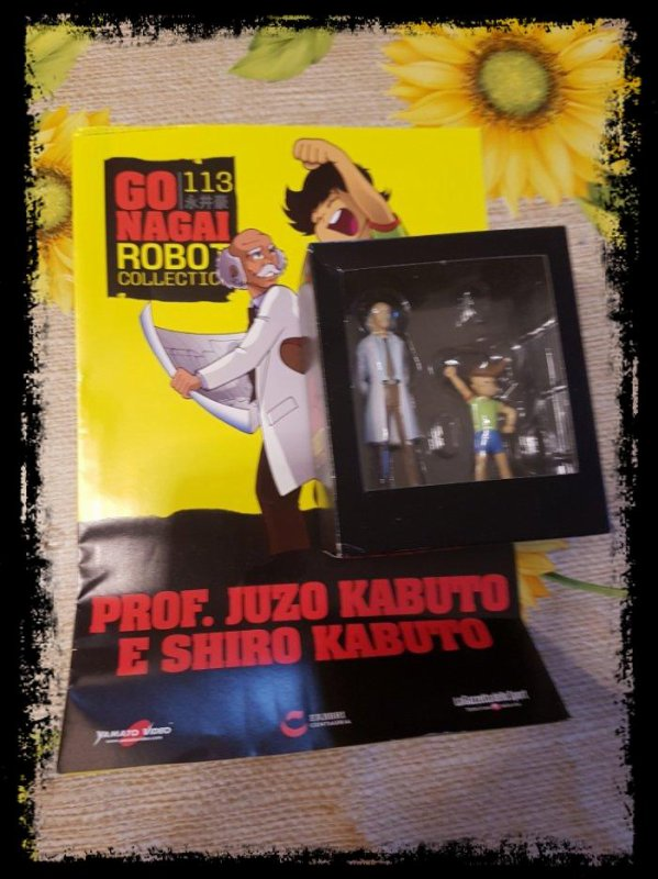Professor Juzo Kabuto + Shiro Kabuto - Mazinger Z - Go Nagai - Livet avec figurine, No 113