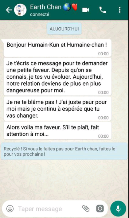 Petit message de la part de Earth-chan!