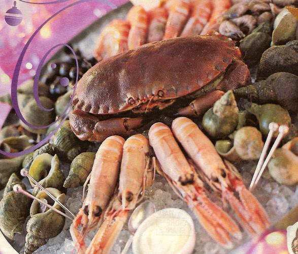 ... Perso, j'adore les crabes et les crevettes  ...
