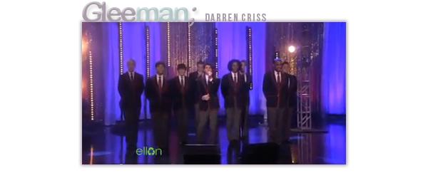Les Warblers & Darren Criss chez Ellen Degeneres le 22.04 Ils étaient de passage chez Ellen ou ils ont chantés Teenage Dream.