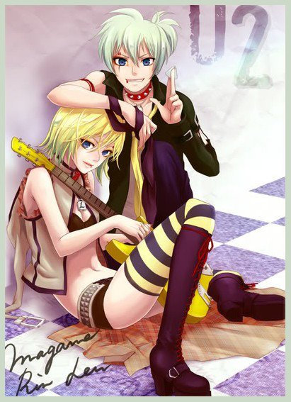 #Moment manga vocaloid (Rin et *Len magane)
