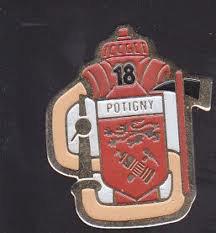 pin's pompier de potigny