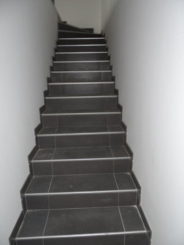 L 39 escalier b ton les mange prunes d m nagent de nouveau for Comhabillage bois escalier