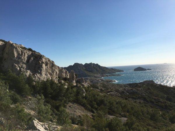 Les calanques goudes à Marseille