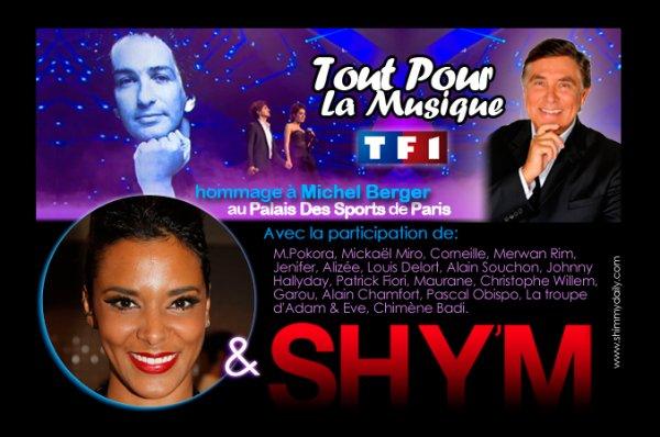 Shy'M dans « Tout pour la Musique » spéciale Michel Berger sur TF1 !