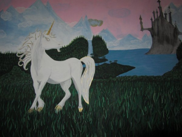 Monde féérique et licorne