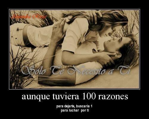 ¿Sabes?, te amo.