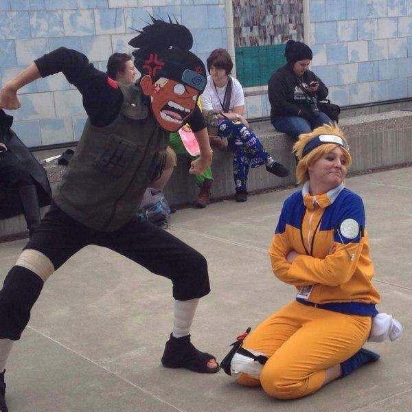 Iruka Umino et Naruto Uzumaki