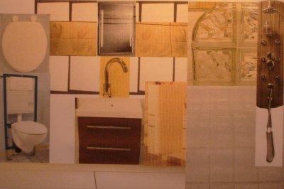 La salle d 39 eau chambre 3 maison bois doudou for Carrelage 20x40 blanc