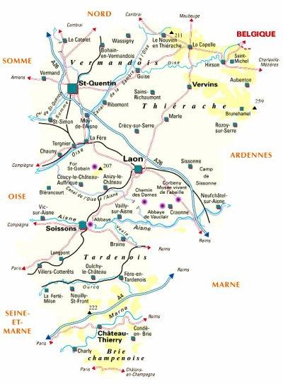 L'Aisne comprend 816 communes.
