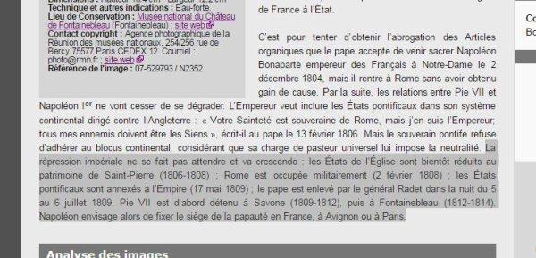 """""""Un être exceptionnel"""" pas très catholique ! Quand Napoléon emprisonnait un pape.."""