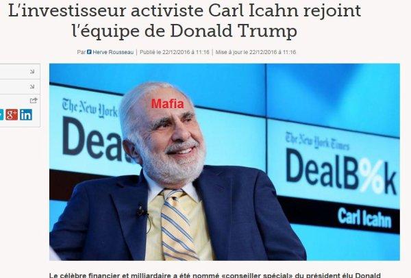 Mafia, arnaques et mensonges : L'investisseur activiste Carl Icahn rejoint l'équipe de Donald Trump