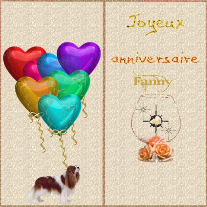 Joyeux Anniversaire Fanny L Gros Bisous Cis S Vvyeu