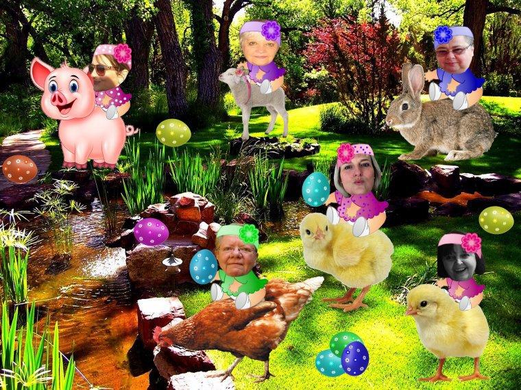 LA  CHASSE  AUX  OEUFS  DES  MISS  BABYS  (l)   IMAGES  DE  SANDRINE  ET  TEXTE  DE  CUICUI