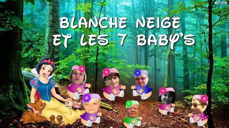 BLANCHE  NEIGE  ET  LES  7  BABY ' S   (l)   ( offert par mon amie Sandrine )