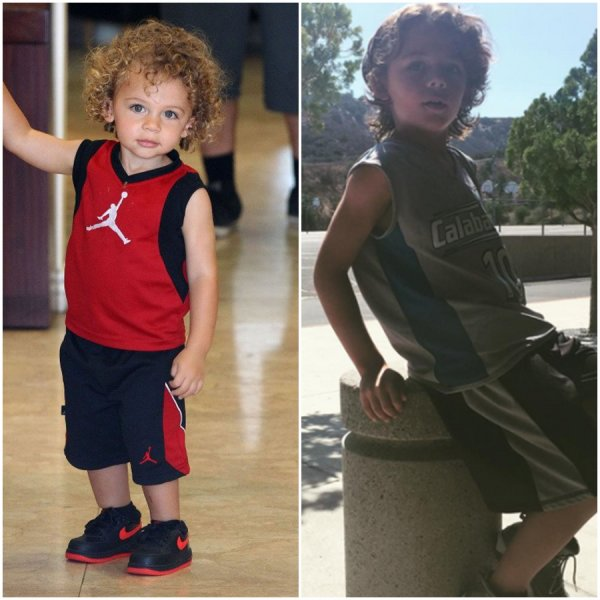 Kendra Wilkinson & ses enfants Hank Baskett iv & Alijah Baskett