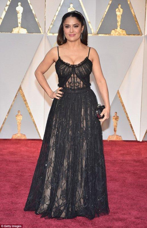 Salma Hayek au Oscar