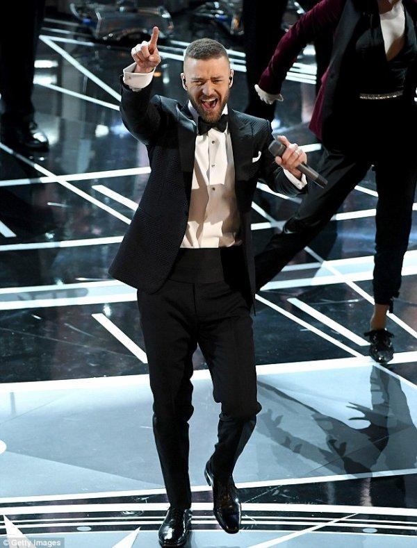 Justin Timberlake & Jessica Biel aux Oscars