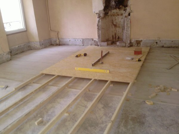 Plancher bois faux plafond de cuisine for Cuisine plancher bois