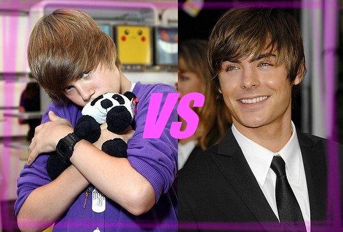Justin Bieber vs Zac Efron