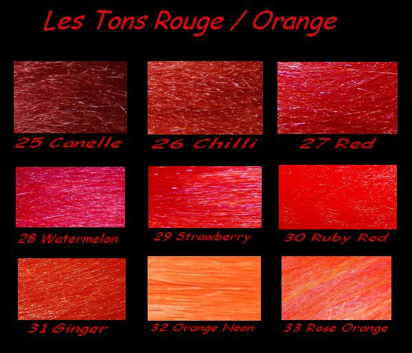 palette de couleurs rouge orange raka dreads. Black Bedroom Furniture Sets. Home Design Ideas