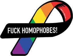contre les homophobes ...