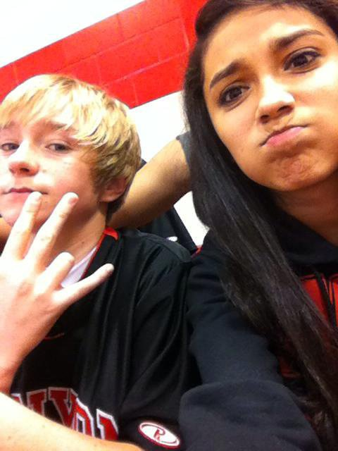 Me & Tyler at the game Wednesday x3