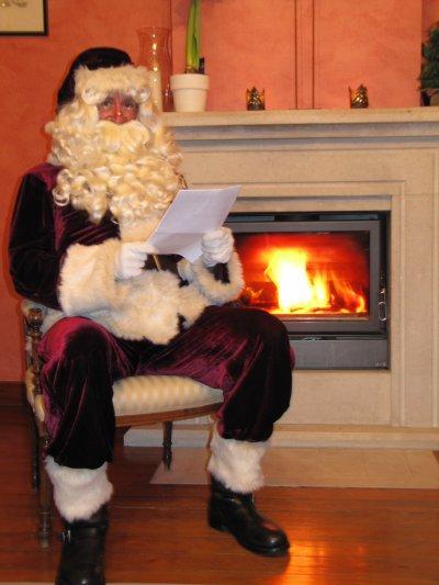 Le Père Noël chez vous à domicile ou dans votre commerce
