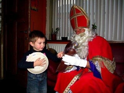 Visite de Saint Nicolas à domicile