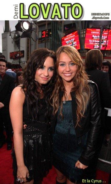 """Quand Demi défend Miley ça donne :  """"Miley est ma meilleure amie donc vous devriez faire attention. Je pense qu'elle est sensationnelle et je la défendrai à 100 %"""". Cause? Miley est à nouveau très critiquée, son nouveau clip (Who Owns My Heart) serai trop sexy. . Heureusement que Demi est là . ."""