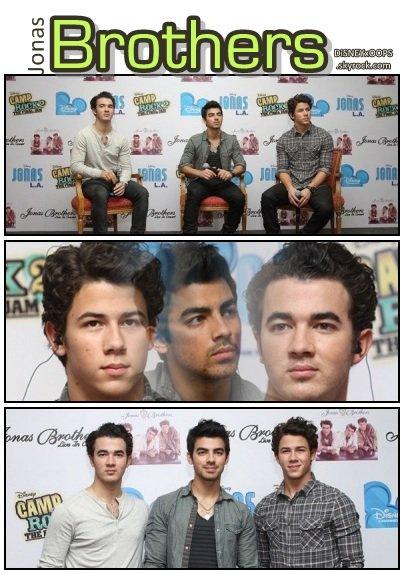 24/1O | Les Jo' Brothers à une conference de presse, au Mexique.