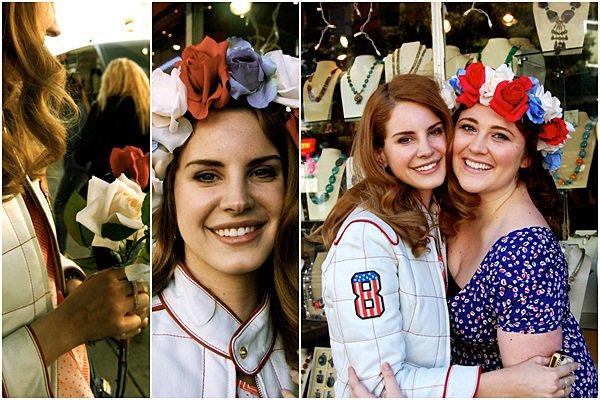 ** 12 Février 2012 : Lana arrivant et quittant le chateau Marmont, Los Angeles. **