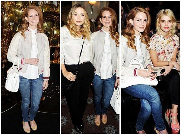 ** 19 Février 2012 : Lana était présente au Mulberry Show pendant la Fashion Week à Londres. **