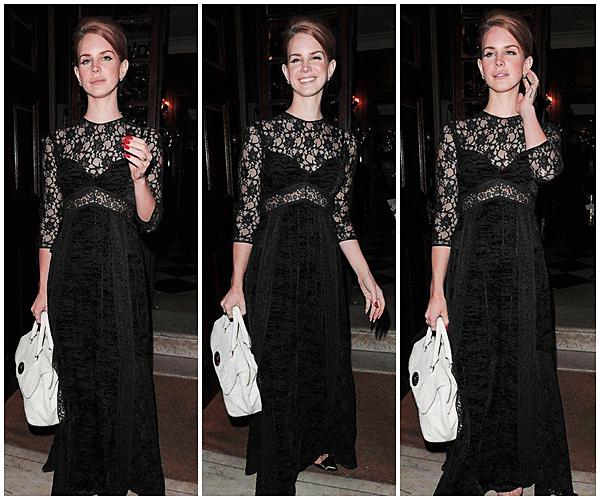 ** 19 Février 2012 : Lana Del Rey au repas privé par Mulberry. **