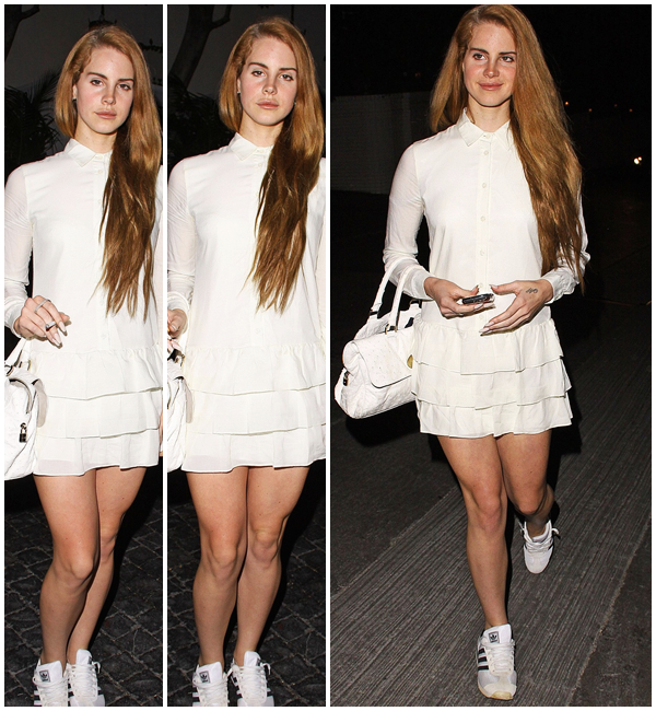 ** 29 Février 2012 : Lana quittant le chateau Marmont à hollywood. **
