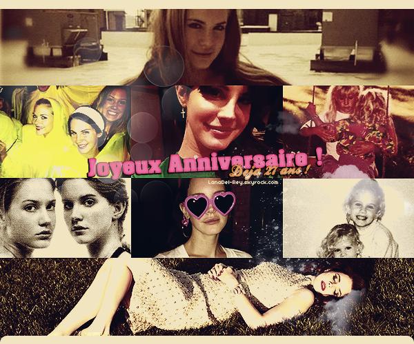 *  Un joyeux anniversaire à... Lana Del Rey, qui est née 21 juin 1986 ! - Il y a 27 ans de cela, la sublime Elizabeth Woolridge Grant de son vrai nom a vu le jour par Pat et Rob Grant.  *