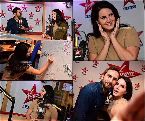 "20/09/15: Toujours dans la promotion de l'album ""Honeymoon"", Lana a accordé une interview à la radio Virgin en France."
