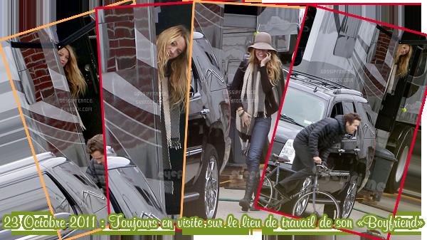 16 Octobre 2011 : Blake quittait l'appartement de Ryan Reynolds (désolée pour la qualité des photos)