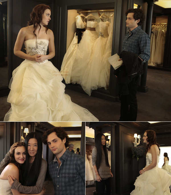 ENFIN DES NEWS ! Les stills de l'épisode 11 The end of the affair viennent de sortir. Leighton est magnifique dans cette robe et la photo avec Vera Wang est adorable ! Je vous met aussi quelques spoilers, enjoy !