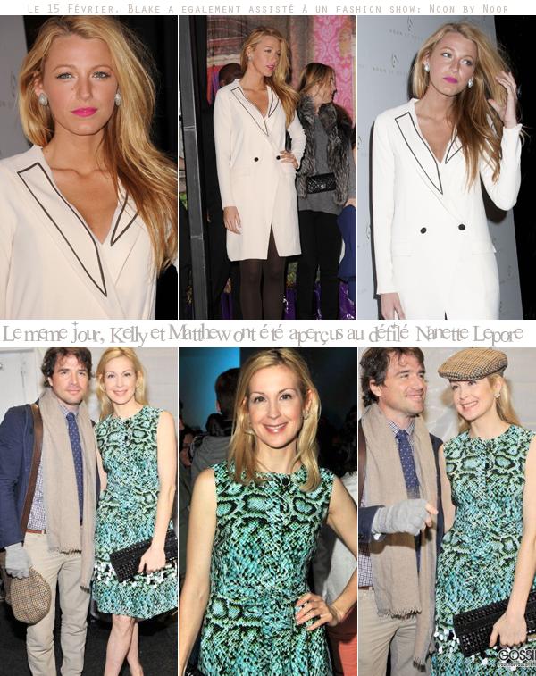 Quelques membres du cast ont encore assisté à la fashion week de New York.