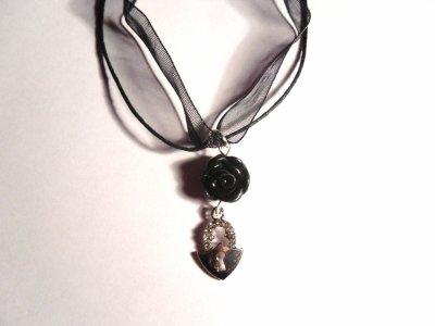 Collier rose noire__#