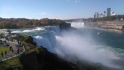 Les Chutes du Niagara vues du côté Américain