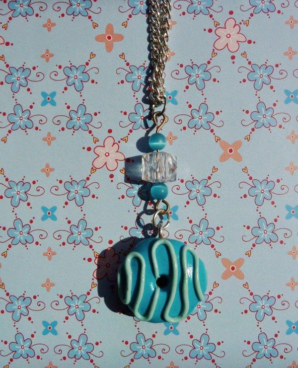 collier donuts bleu ♥