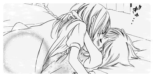 Je rête d'embrasser ma copine >w< ♥