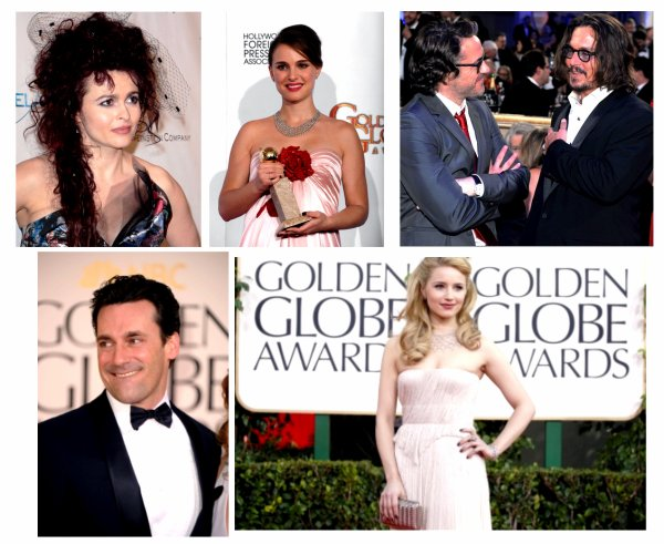 Petit point golden globes
