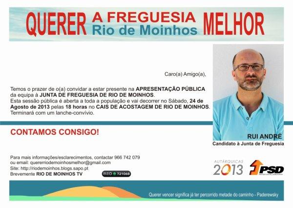 APRESENTAÇÃO DA EQUIPA À ASSEMBLEIA DE FREGUESIA DE RIO DE MOINHOS