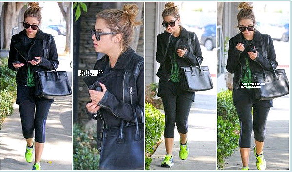 • Candid & Halloween   25.10.13 Ash quitte son cours de sport + 26.10.13 Elle se rendait au Kate Hudson's annual Halloween party.