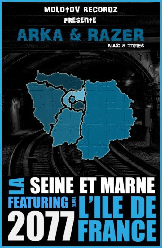 """""""2077"""" MAXI ALBUM 8 TITRES = LES 8 DÉPARTEMENT DE L'ILE DE FRANCE SUR UN MÊME ALBUM !!! #MOLOTOV RECORDS#"""