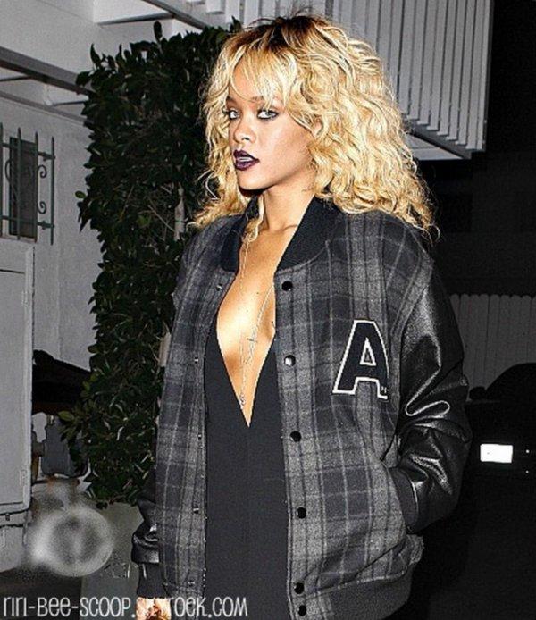 Après avoir assisté au « Grammy Awards », Rihanna s'est rendue au Giorgio Baldi puis au Greystone Manor.